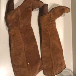 Guess Brown Suede knee Boots 3 inch heel- 8M